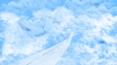 mẫu máy bay trên không nền, Trên Không., Máy Bay., Poster Ảnh nền