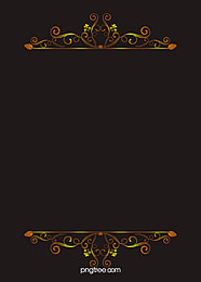 European Gold Pattern Vector Background Material Atmosphere, Black, Continental, Gold, Background image