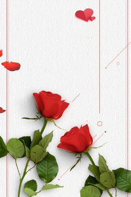 rose 3d creative poster background , Red, Rose, Wall Background image