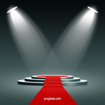 stereo stage lighting red carpet background material , Three-dimensional, Light, Red Background image