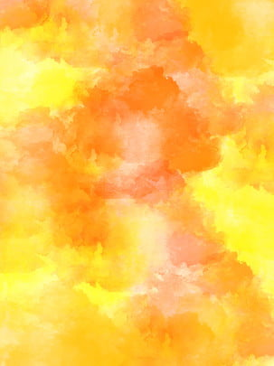 yellow watercolor background material , Poster, Watercolor, Yellow Background image