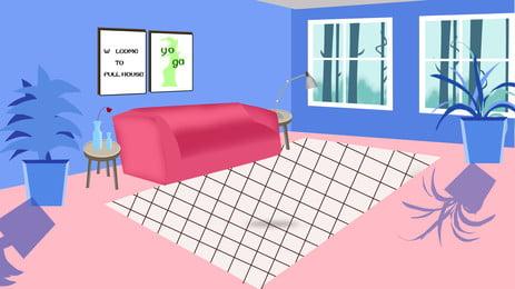 部屋 家具 インテリア ホーム 背景, ベッドルーム, ランプ, パネル 背景画像