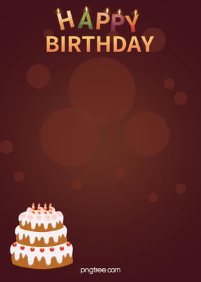 happy birthday cake candle poster background material , Birthday, Happy, Candle Background image