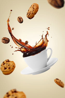 creative coffee beans background material , Creative, Coffee, Beans Background image