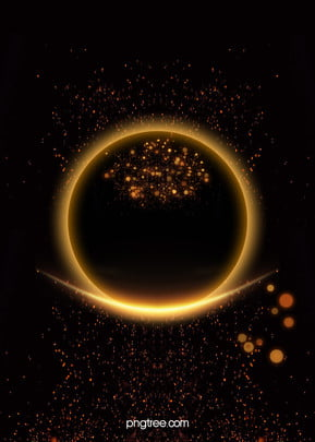 black halo of gold scrap gold poster background material , Black, Golden, Iris Background image