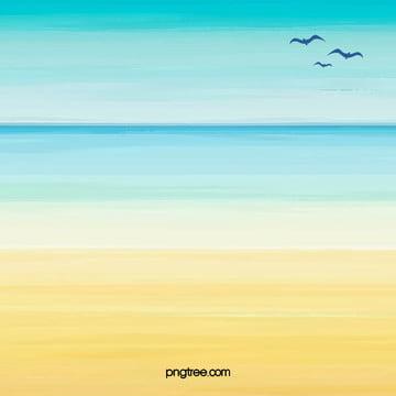 पानी के रंग का समुद्र तट पोस्टर पृष्ठभूमि , समुद्र तट, समुद्र तट, पोस्टर पृष्ठभूमि छवि