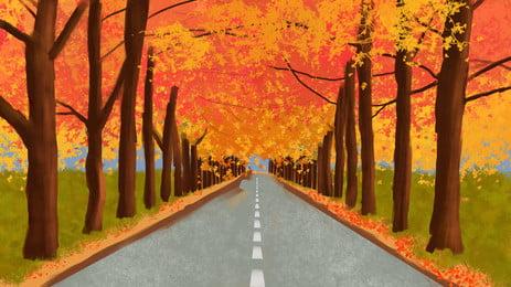 道路アスファルトベンドハイウェイ, 欄干, 旅行, ドライブ 背景画像
