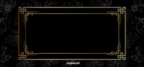 black gold frame pattern background material, Black, Pattern, Gold Background image