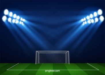 light soccer field sports background material, Light, Football, Field Background image