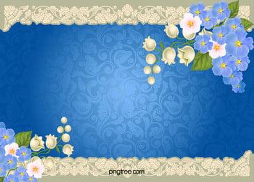 paisley floral blue border background, Floral, Decoration, Invitation Background image