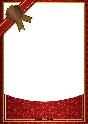 mudah merah latar belakang perbatasan sijil , Mudah, Merah, Bingkai imej latar belakang