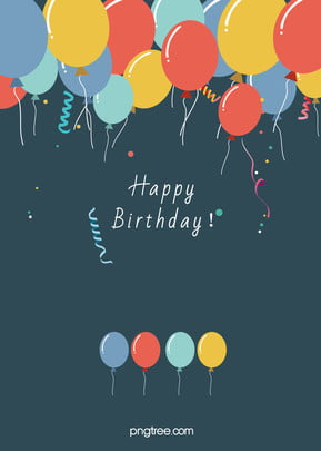 birthday poster background material , Birthday, Posters, Balloons Background image