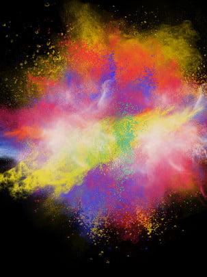 kreatif yang berwarna warni percikan , Warna-warni, Percikan, Bahan imej latar belakang