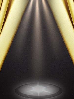 Gold Stage Curtain Background Material Golden Image