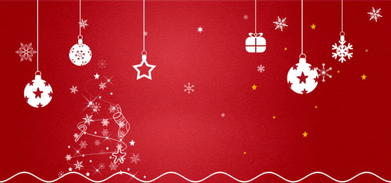 Christmas Festive Banner Red Background Christmas Christmas Tree Concise Background Image