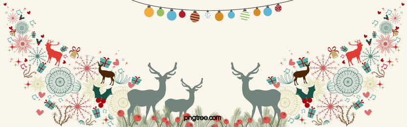 Simple Hand-painted Flat Paper-cut Christmas Background, Christmas, Paper, Cut, Background image