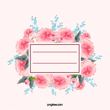 watercolor floral border background material , Pink, Watercolor, S Background image