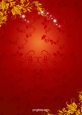 chinese new year red floral pattern background , Floral, Golden Floral, Spring Festival Background image