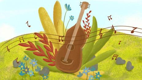 प्रतीक सरल पीले संगीत पोस्टर पृष्ठभूमि, प्रतीक, संगीत, गीत पृष्ठभूमि छवि
