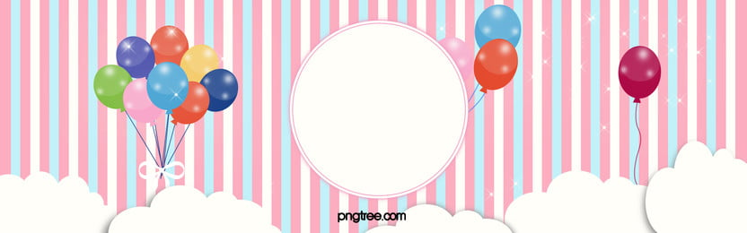 romantic pink striped banner background, Pink, Romantic, Balloon Background image