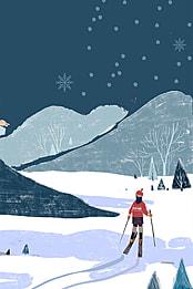 滑雪場開業背景 , 開業, 隆重開業, 促銷活動 背景圖片