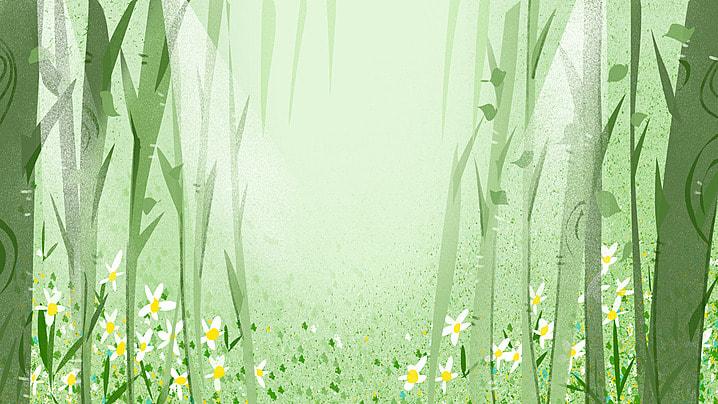 segar kecil cerah hutan tempat kejadian, Segar Kecil, Cahaya Matahari, Hutan imej latar belakang