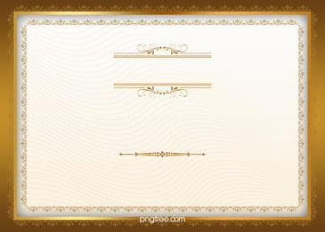 eropah sijil bingkai emas latar belakang, Eropah Sijil, Lace Sijil, Kehormatan Sijil imej latar belakang