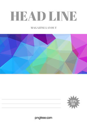 Modern Geometric Magazine Cover Design Background Material Vi Manual, Magazine, Cover, Color, Background image
