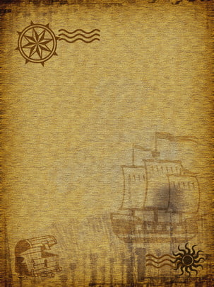 la bàn giản lược văn nghệ quảng cáo du lịch nền màu vàng , Một Cái La Bàn., Hướng, Đi Du Lịch Ảnh nền