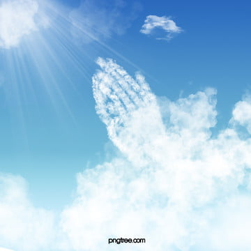 prayer clouds background material , Prayer, Pray, Bless Background image