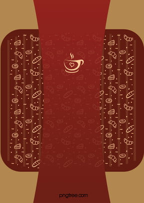 tea and coffee desserts literary restaurant menu background material , Dessert, Food, Menu Background image