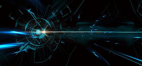 स्टार विज्ञान कथा नीले शिक्षा पोस्टर पृष्ठभूमि, ग्रह, चमक, प्रकाश पृष्ठभूमि छवि