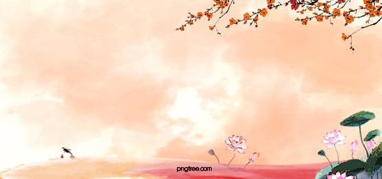 中国風水彩画の背景素材は中国風が 中国風 唯美 水彩 背景画像