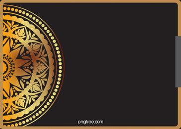tinggi end emas pola latar belakang kad jemputan kupon, Emas Corak, Kad Jemputan, Corak Sempadan imej latar belakang