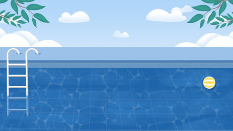 swimming pool blue background material, Hd, Poster, Free Background image