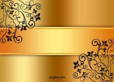 चीनी शैली गोल्डन निमंत्रण कार्ड पृष्ठभूमि सामग्री, सोने, पुष्प, मोड पृष्ठभूमि छवि