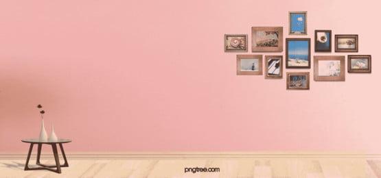 家居ピンク壁ロマンチックなシンプルデザインǒбポスターを壁に写真 企業 会社 家庭 背景画像