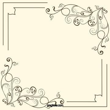 цветы винограда границы материал фон , 花藤, границы, плакат Фоновый рисунок