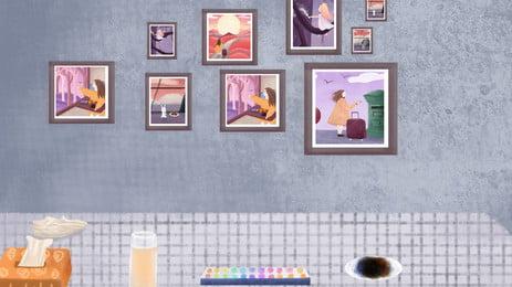 家 ホーム インテリア 建築 背景, 壁, 漆喰, 家具 背景画像