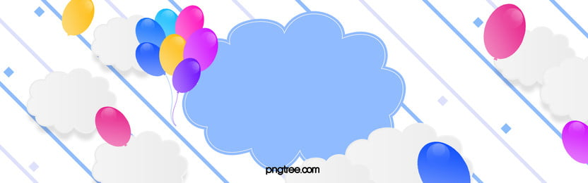 flat posters baneer, Balloon, Clouds, Carnival Background image