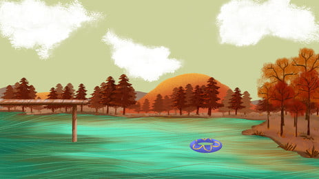 pengiklanan latar belakang tenang lake forest refleksi, Lake Refleksi, Lake, Terbalik Imej imej latar belakang