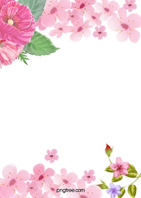 Beautiful Flowers Watercolor Poster Background, Beautiful, Watercolor, Flowers, Background image