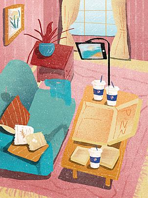 部屋 インテリア 家具 ホーム 背景 , 家, コーナー, 快適 背景画像