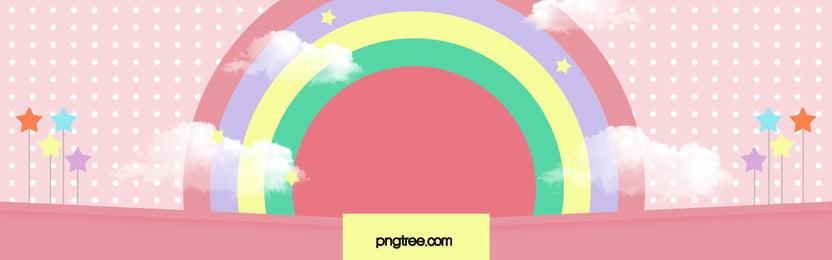 kartun cute pink latar belakang bahan poster, Kartun, Indah, Merah Jambu imej latar belakang