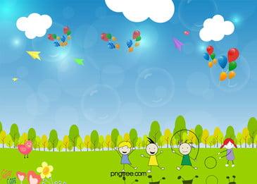子どもの撮影児童の楽園ポスターの背景素材 子供の撮影 子供の楽園 児童遊園地 背景画像