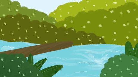 ツリー 水 川 景観 背景 木質植物 森 公園 背景画像