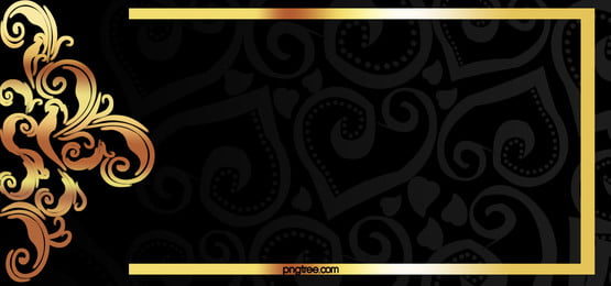 vector gold frame on black background material pattern, Golden, Frame, Pattern Background image