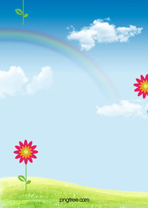 bầu trời xanh  bạch vân hoạt hình trẻ em quảng cáo mẫu nền lịch bàn cầu vồng , Bầu Trời Xanh, Muscovite., Cầu Vồng Ảnh nền