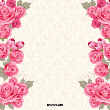 pink roses invitations flower background , Romantic, Love, Rose Background image