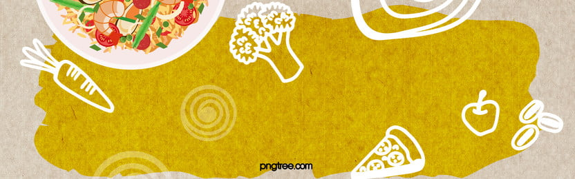 food hand painted yellow poster background banner, Food, Yellow, Ingredients Background image